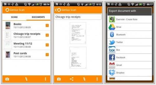 Genius Scan - ПО для платформы Android